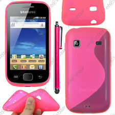 Housse Etui Coque Silicone S-line Gel Rose Samsung Galaxy Gio S5660 + Stylet