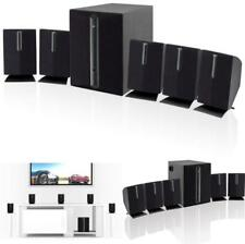 5.1 Channel Home Theater Speaker System Stereo Surround Sound Subwoofer Black