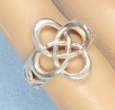"""Sterling Silver Ring, 3/4"""" x 3/4"""" Rings, Stamped 925, Size 4.75, 3.42 grams"""