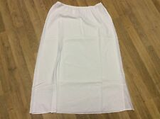 Women Long Slip Hollow Out Underskirt A Line Petticoat Safety Skirt