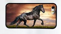 NEW BLACK ARABIAN HORSE BLACK PHONE CASE COVER FOR IPHONE 7 6S 6 PLUS 5C 5S 5 4S