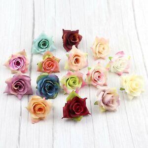 """2"""" Bulk Small Rose 10/20P Artificial Silk Flowers Heads for Wedding Home Decor"""