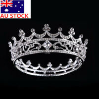 AU Crystal Crown High Full Crystal King Wedding Bridal Party Pageant Prom Tiara
