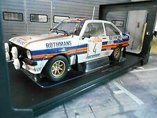 FORD Escort RS1800 2.0 BDA Rallye San Remo 1980 #4 Vatanen Rot IXO NEU 1:18