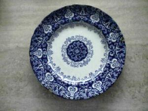 Antiker Teller - Ducôte, dunkelblau, Arabesque
