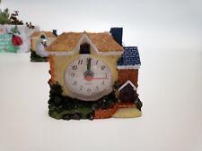 New Desk Alarm Clock Village House Bedroom Clock Home Decor kids' Xmas NY gift