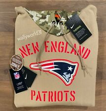 Authentic Nike New England Patriots 2019 Mens NFL Salute to Service Tan Hoodie