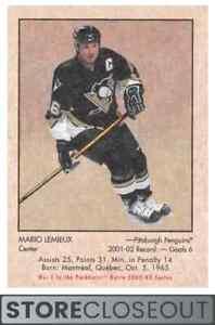 2002-03 Parkhurst Retro #1 Mario Lemieux Pittsburgh Penguins