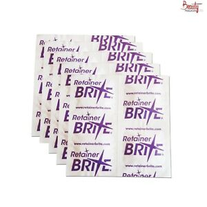 Retainer Brite Sample x 20 Tablets, Cleaning Dental Braces Guards Trays
