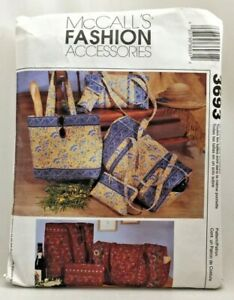 2002 McCalls Sewing Pattern 3693 Duffel Makeup Bag Eyeglass Case Tote Sew 3453F