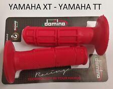 COPPIA 2 MANOPOLE DOMINO ROSSO YAMAHA XT TT R 600 TT RE 600 LUNGHEZZA 115 MM