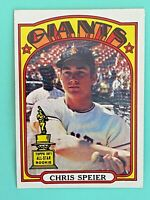 Topps 1972 #165 Chris Speier - San Francisco Giants