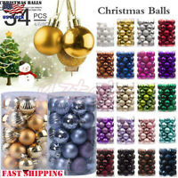 34PC 40mm Christmas Xmas Tree Ball Bauble Hanging Home Party Ornament Decor USA