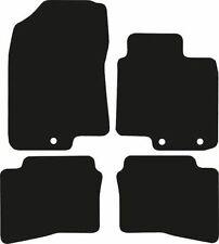 Hyundai i-20 (2015-Date) New Black Checker Rubber Tailored Car Mats Floor Mats