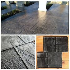 Concrete texture stamps RUBBER mat for printing on cement  Old city №2