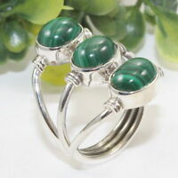 Malachite Gemstone Unique Jewelry 925 Sterling Silver Ring