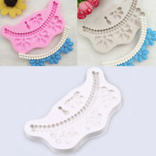 Silicone Pearl Necklace Fondant Mold Cake Decorating Chocolate Baking Mould Tool