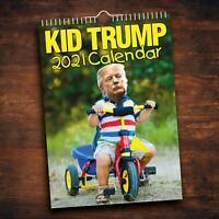 2021 lustiges Kind Donald Trump Monatskalender Wandbehang Kalender Dekoration