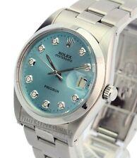 Rolex Oysterdate Precision 6694 Ice Blue Diamond Dial 34mm Watch