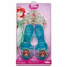 Disney Princess Ariel SHOES & TIARA Crown Set Dress Up Fashion Costume Slippers