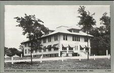 North Webster IN Epworth Hotel Postcard