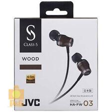 NEW JVC CLASS-S Wood HA-FW03 FW03 In-Ear Headphones made in Japan Hi-Res