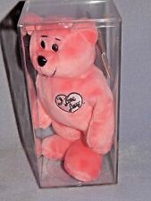 Limited Edition - Pink Beanie Plush Bear - Nib - I Love Lucy - Signature Series