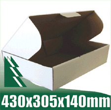 20 x Cardboard Boxes 430x305x140mm White Packaging Carton Mailing Box STRONG