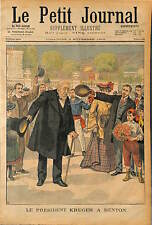 South Africa President of the South African Republic Paul Kruger a Menton 1902