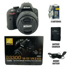 Nikon D3300 DSLR Kit w/18-55mm Lens Black Kit + extras