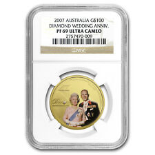 2007 1 oz Proof Gold Diamond Wedding Anniversary PF-69 NGC