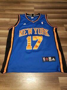 Jeremy Lin New York Knicks Jersey Adidas Swingman Size 48 Blue Away Stitched NBA