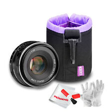 Meike MK-35mm F/1.7 APS-C Large Aperture Manual Lens for Sony + Caden Lens Bag