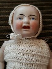 """Antique Estate 7"""" Fully Jointed Bisque Boy? Baby Doll Original Clothing Germany"""