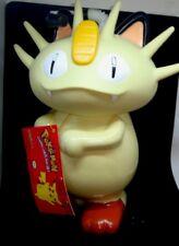 "NEW> Vintage POKÈMON MEOWTH BIG  9"" cup SIPPER BOTTLE Straw 3D Nintendo 1998"