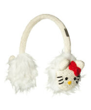 Hello Kitty Delux Knitwits White Adjustable EarMuffs - Kids Youth One Size