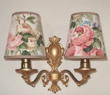 Woburn Roses - Small Handmade Candle Clip Lampshade for Wall Lights/Chandeliers