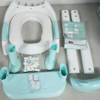 Potty Training Seat With Step Stool Ladder, SKYROKU Potty Training Toilet, Blue
