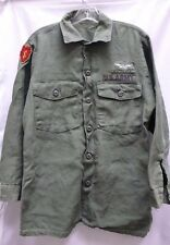 US ARMY COTTON FATIGUE SHIRT OG-107 25th INFANTRY IN COUNTRY ARMY AVIATION BADGE