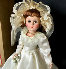 """c.1950s SWEET SUE 18"""" AUBURN BRIDE with HER BOX - American Character Doll Vtg"""