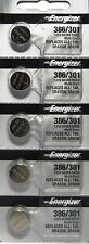 Energizer 386 301 (SR43SW) Silver Oxide Watch Batteries ( 1 pack of 5)