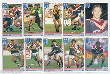 1992 Regina NSW Rugby League EASTERN SUBURBS Team Set (10 Cards) ++++