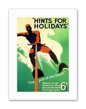 WATER SKI HOLIDAY SOUTH COAST SEA UK Travel Sport Canvas art Prints
