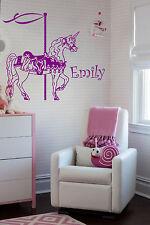 Unicorn Carousel & Personalized Name Wall Stickers Horse Elephant Unicorn