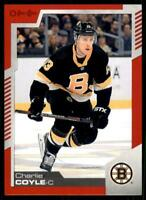2020-21 UD O-Pee-Chee Red Border #477 Charlie Coyle - Boston Bruins