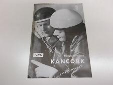 Original kancork/everoak/corker motor cycle crash casque brochure