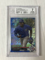 VLADIMIR GUERRERO JR 2017 Bowman Chrome BLUE SHIMMER SP RC! BGS NM 7! #BCP32!