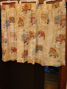 Vintage 70s/80s Sears CB Radio Kids Room Curtains Breaker Breaker Smokey Trucker