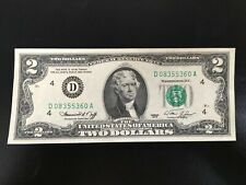 USA Two Dollar US $2.00 Banknote Series 1976 Uncirculated