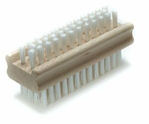 Konex Non-Slip Wooden Two-sided Hand and Nail Cleaning Brush